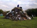 bonfire in the making
