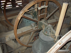Church bells in the belfry