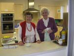 Shirley and Muriel doing refreshments