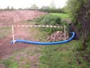 laying drainage pipes