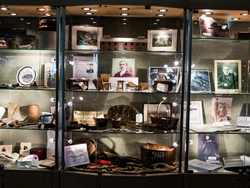 display cabinets of artefacts