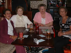 L to R Hazel Paddison (nee Cox), Jaqueline Murray (nee Phillips), Ruth Croft (nee Pipe), Joan Farrow (nee Curtis)