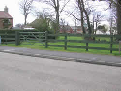 Fencing and gates erected...
